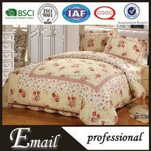 Hot sale romantic pattern king size bedding sets in rose design wholesale