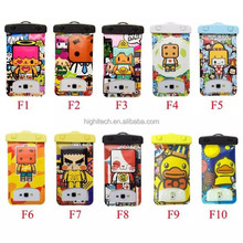 Cartoon Water Proof Case Mr. Zhang&Yellow Duck Case Phone Bag with tpu top Portable Case for Iphone&Samsung Series