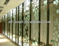 hot sale china decorative metal stainless steel screen partition commercial office room divider