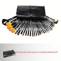 Pro 34pcs Makeup Brushes Set High Quality Blush Leather Case, made of goat
