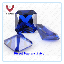 China Manufacturer Wholesale Excellent Princess Cut of #34 Synthetic Blue Sapphire Price