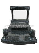 Good Quality Arch Style With Bible Book Blue Pearl Granite Monument