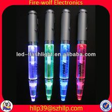 2014 China Supplier New Style Colourful Led Flashing ball pen with stand