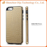Combo tpu pu silicon full cover cell phone case for iphone 6 plus