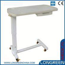 LG-HT709 Height adjustable plastic hospital bedside table ideas
