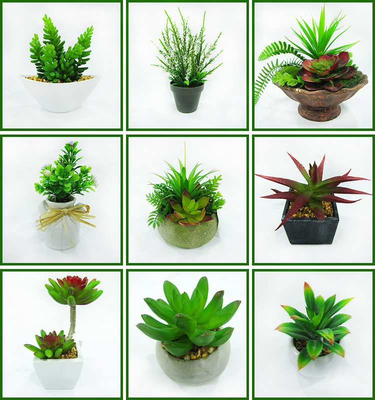 Beau Mini Artificial White Ceramic Potted Cactus Plant Table Plants For ...