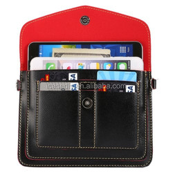 6.3 Inch Multi-function Leather Shoulder Bag with Card Slots for iPhone 6