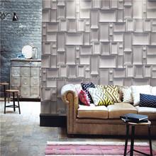 Hot interior 3D wallpaper in popular wood brick stone designs vinyl wallpaper