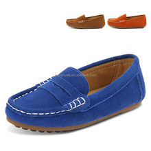 fashion boys casual shoes moccasin-gommino, slip-on genuine leather casual kid shoe loafers stylish made in china factory