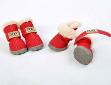 fleece inner winter shoes for dog