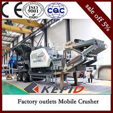 Hot sale Coal ash mobile crushing equipment , portable crusher/ 200 tph typical mobile crusher screening uni