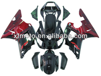 For 98-99 Yamaha YZFR1 YZF-R1 Black& Red Flame Injection Plastic Fairing Body Work