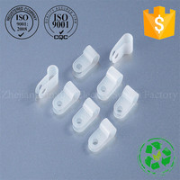 ZHEJIN 4N 6.4mm Nylon Cable Wire Tubing Mounting Fixing Clip Clamp 1000Pcs Natural