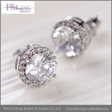 Good pre and after service supplier Stud earrings , purple zirconia earring