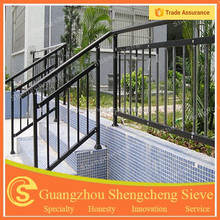 Steel pipe and tube outdoor metal stair railing Guangzhou Supplier