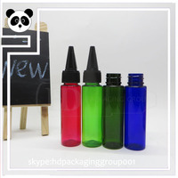 China supplier PET bottles sharp caps 30ml nicotine bottles 30ml 30ml e liquid e juice bottles