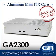 GA2300 Aluminum Mini Industrial Fanless Mini ITX Computer Case