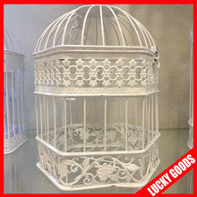 shabby chic hanging bird cage christmas birdcage for decoration