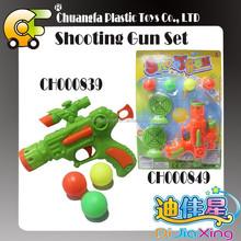 Plastic shooting ball games pingpong ball gun toys for kids