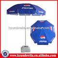 Pepsi cola impreso el logotipo de sombrilla, la promoción playa paraguas