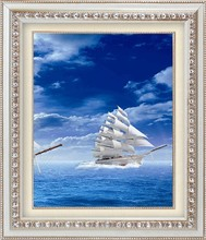WALL DECORATION FRAMED SMALL BOAT PAINTING FOR SALE