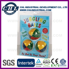 Promotion 5cm juggling ball with blister card