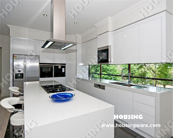 Customized modern white high gloss lacquer finish kitchen cabinets buy modern white lacquer Kitchen design centre brisbane