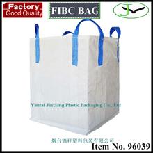 Hot sale virgin pp plastic circular ton bag with cross corner loop