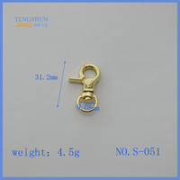 High quanlity metal snap hook for bags zinc alloy small hook for purse wholesale