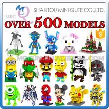 Mini Qute Over 500 styles loz Diamond nano plastic building blocks toys educational toys gift for boy