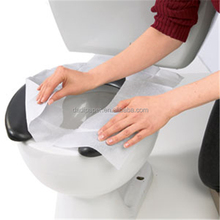 Flushable paper toilet seat cover disposable toilet seat cover