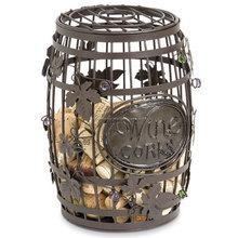Bonito rodada Wine Cork Art gaiola barril de vinho cortiça poupança gaiola