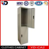2015 steel bedroom cabinet/ 2 door wardrobe clothes cabinet ,2 door storage locker