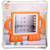 Freestanding akimbo design kids proof tablet rugged case for apple ipad 2 3 4