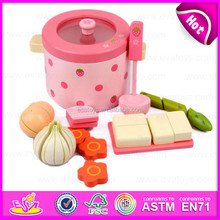 2015 Educational Toys Kitchen cooking Play Set,Role play Cooking Food Toy,Wooden Kitchen Toys Strawberry Cooking set toy W10D106