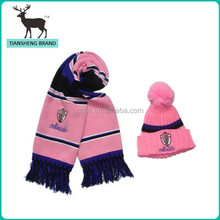 100%acrylic hat and scarf , football sport set