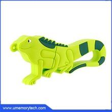 The chameleon green color wholesales flash drive cute thumb usb pen drive portable