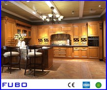 Classic American Style Oak Kitchen Cabinet Solid Wood