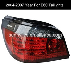 For BMW E60 5 Series 520i 523i 525i 528i 530i LED Tail Lamp 04-07 Red Black SN