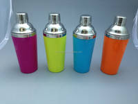 400ML Double Wall Colorful Stainless Steel As plastic Cocktail Shaker/ Bar shaker /Wine shaker