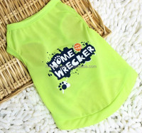 simply she dog clothes lemon green dog shirt with home wrecked