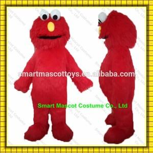 Fácil vida útil de tamaño adulto precioso elmo traje de la mascota con buena visual para caminar adultos elmo mascota