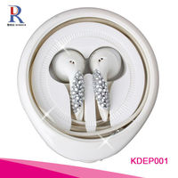 Newest Metal Assorted Bassbuds Earbuds With Rhinestone From China Factory