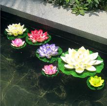 Simulacion artificial de Lotus Eva piscina planta decorativa simulacion flores de loto inmortalizado