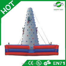 2015 top sale!!!!chrismas tree climbing wall, rock inflatable climbing wall, hot inflatable climbing wall
