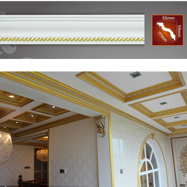 PU decorative ceiling lines/ceiling moldings for Home ...
