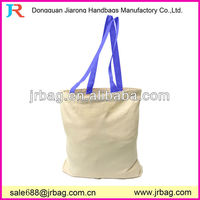 Hotsale Colorful handles cotton canvas beach bags
