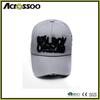 Puff embroidery cotton twill 5 panels baseball cap/outdoor worn-out custom logo running cap