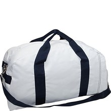 Smart Design Large Square Duffel Polyester White Travel Bag 2015