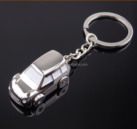 OEM stock zinc alloy metal 3D mini car key chain for promotional